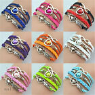 Fashion Woman Girl Vintage Stone Mandrel Bead Bracelet Bangle Weave Jewelry New