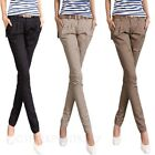 Straight Leg Trousers Cargo Pants Bootcut Casual Ladies Skinny Chinos sz 6-12