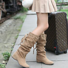 Women Girls Fashion Boots Mid-Calf Casual Boots for Autumn & Winter