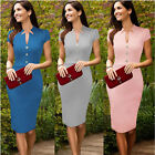 Elegant Women Bodycon Evening Party Cocktail Slim Pencil Tunic Career Dress S-XL