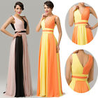Women's Formal Prom Cocktail Evening Show Gown Long SEXY V Back Party Maxi Dress