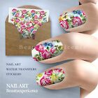 Beautiful Flowers Nail Art Nail Decals Water Transfer Stickers Decoration -140