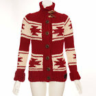 WOMENS SUPERDRY RED TOTEM KNITTED JUMPER/ CARDIGAN/ JACKET RRP £129.99 *BNWT*