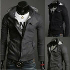 Fashion Casual Slim Fit Zip Conçu Manteaux Veste Pull Tops Hoodie Coat