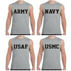 US Army Navy Air Force USAF Marines USMC Military Sleeveless T shirt