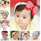 Cute Style Baby Kid Infant Girl Bow Hair Band Lace Flower Headwear Headband Hot