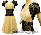 New Rosa Rosa Vtg 1930's 40's Nude Black Lace Illusion Swing Evening Party Dress