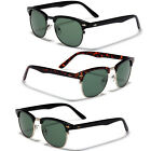 Retro Vintage Glass Lens Men Clubmaster Sunglasses Black Tortoise Gold Glasses
