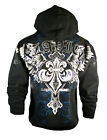 NEW HOLIDAY XZAVIER  NO MERCY HOODIE WINGED CROSS  HOODY URBAN WEAR MEN'S