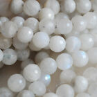 Grade A Natural Faceted Rainbow Moonstone Gemstone Round Beads 4mm 6mm 8mm 10mm