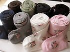 Girls Flower Tights Pantyhose Thick Cotton Rich Age 2-10 Pink White Grey Black