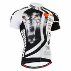 FIXGEAR mens bike cycling clothes jersey bicycle shirt gear wolf top S~3XL