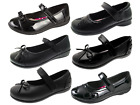 Chatterbox Girls Kids Black School Shoes Faux Leather Mary Jane Flower Size 8-2