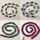 180cm Glitter Bauble Garland Christmas Decoration *4 Colours Available* 50 Balls