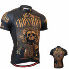 2702_FIXGEAR mens bike clothes cycling  jersey bicycle shortsleeve skull shirts