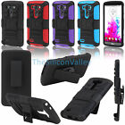 Holster Kickstand Clip Case Cover + Screen Protector For (2014) LG G3 D850 D855