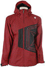 Sessions Truth Mini Stripe Shell Snowboard Jacket Red Mini Stripe Mens