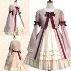 Gothic Lolita Ball Gown Long-Sleeved Dress Cosplay Costume- Custom Made