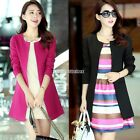 Candy Color Long Sleeve Slim Casual Women Blazer Suit Jacket Coat Outwear