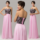 FREE P&P Evening Formal Party Gown Chiffon Lace Prom Bridesmaid Cocktail Dresses