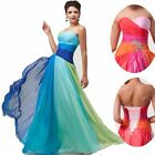 2014 Long Chiffon Evening Formal Party Ball Prom Bridesmaid Dress STOCK Ombre 01