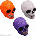 "2.5"" Halloween Light Up LED Plastic Crystal Skull Prop Decoration"