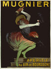 Vintage Mugnier French print poster, large 4 sizes available
