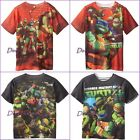 TURTLE NINJA MUTANT TOP TEE SHIRT BOYS PRINTED FRONT AND BACK ALLOVER NEW NWT