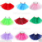 Girl Kids Tutu Party Ballet 3 Layers Leopard Rainbow Fairy Skirt Dress Princess