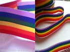Rainbow Gay Pride Cut length Ribbon 10mm 25mm Double Sided Grosgrain Cake