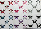 5 Self Adhesive Stick On Butterfly Diamante Gems For Wedding Card Making Craft