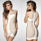 Sexy Bandage Bodycon Dress Evening Cocktail Party Prom Dress Nude 533# XS S M L