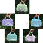 Hot Chic Floral Print Transparent Waterproof Cosmetic Bag Toiletry Bathing Pouch