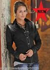 Panhandle Starlight Ladies Black Embroidered Western Cowgirl Shirt