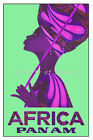 Vintage PAN AM AIRLINES AFRICA print poster, large 4 sizes available