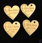 Personalised 'Save the Date'  Wooden Heart Wedding  Favours rustic natural