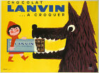 Vintage French Lanvin Ad print poster, large 4 sizes available
