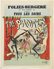 Vintage French Folies-Bergere Ad print poster, large 4 sizes available