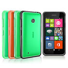 FUSION BUMPER GEL CASE CLEAR BACK REAR COVER FOR NOKIA LUMIA 530