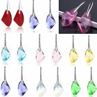 HOT Women's Silver Plated Crystal Rhinestone Dangle Drop Hook Earrings Ear Stud