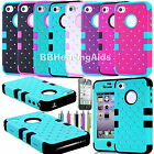 Shockproof Dirt Proof Durable Hybrid Phone Case Cover For iPhone 4 4S 4G Diamond