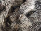 Super Luxury Faux Fur Fabric Material - BROWN ALSATIAN 419