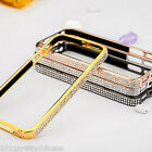 Crystal Diamond Button Bumper Metal Frame Case Cover For Iphone 5 5S New 4 Color
