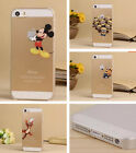 New cute Transparent protector Cartoon phone case cover for iphone 4 4S 5 5S 5C