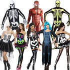 Mens Ladies X-Ray Skeleton Costume - Halloween Skeleton Fancy Dress Outfit