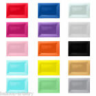3 Wedding Party Solid Colour 33cm x 23cm Plastic Serving Platters Trays