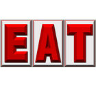 EAT Diner Block Letter Set of 3 Wall Decals Vintage Style Kitchen Decor