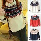 bargain priceSleeve Casual KnitSweater Crew Neck Pullover Loose Sweater Knitwear