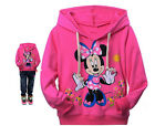 Girl Baby Kids Minnie mouse Sweatshirt Hooded Top T-shirt Thin Coat  1-6Y