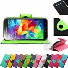 Two Tone Leather Wallet Case Cover Stand Magnetic Flap Card Slot For Samsung